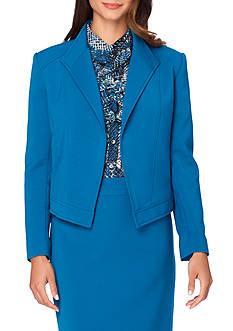 Tahari ASL Solid Open Front Jacket