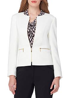 Tahari Ponte Knit Zip Front Jacket