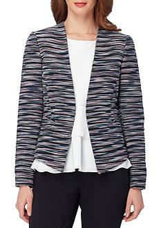 Tahari Tweed Open Front Jacket