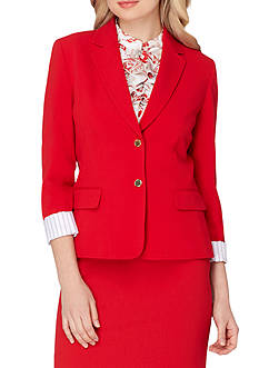 Tahari ASL Notch Collar Two Button Jacket