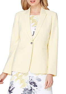 Tahari ASL Single-Button Cindy Jacket