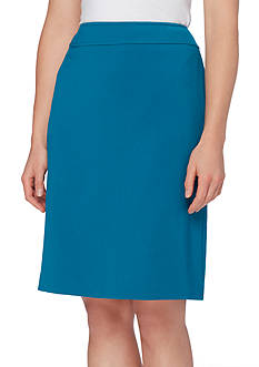 Tahari ASL Solid Straight Skirt