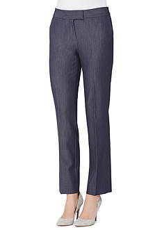 Tahari ASL Denim Straight Pants