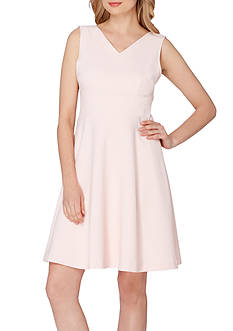 Tahari ASL Sleeveless V-Neck Dress