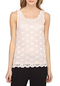 Tahari ASL Lace Scoop Neck Cami