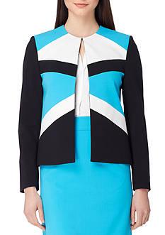 Tahari ASL Colorblock Bi-Stretch Jacket