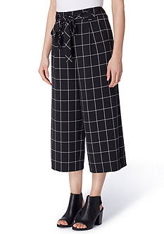Tahari ASL Windowpane Culotte Pants