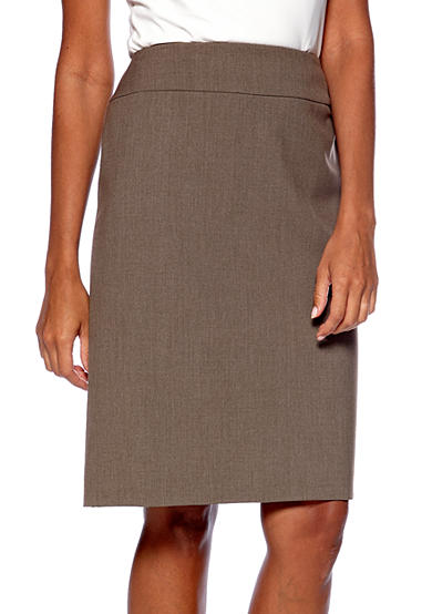 Tahari ASL Staple Taupe Skirt