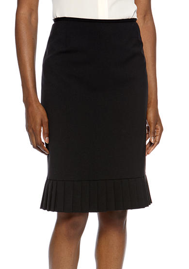 Tahari ASL Pleated Bottom Pencil Skirt