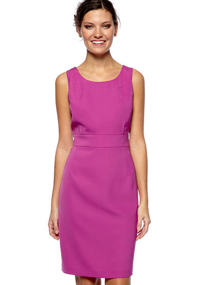 Nine West Inset Waist Crepe Dress
