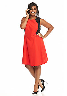 Nine West Plus Size Fit-and-Flare Dress
