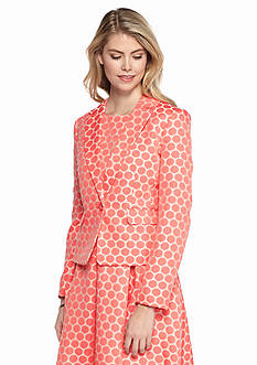 Nine West Dot Print Jacquard Jacket