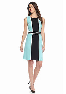 Nine West Contrast Color Ponte Dress