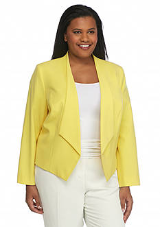 Nine West Plus Size Wing Collar Jacket