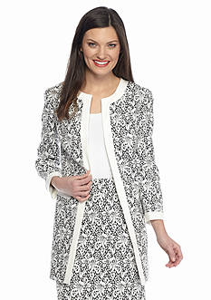 Nine West Print Jacquard Topper