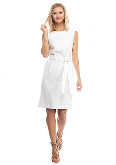 Nine West Belted Linen Dress