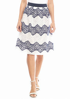 Nine West Lace Zigzag Skirt