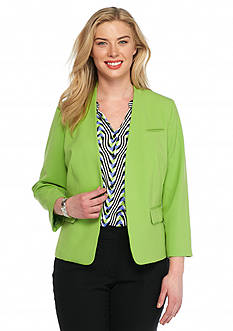 Nine West Plus Size Single Hook Closure Jacket