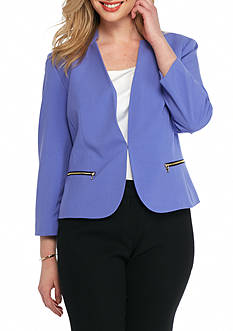 Nine West Inverted Collar Jacket