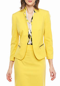 Nine West Plus Size Inverted Collar Jacket