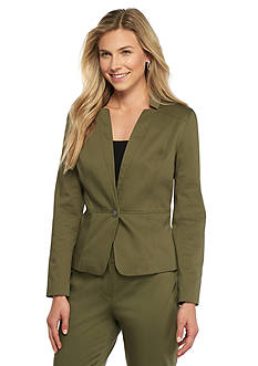 Nine West Fitted Cotton Jacket