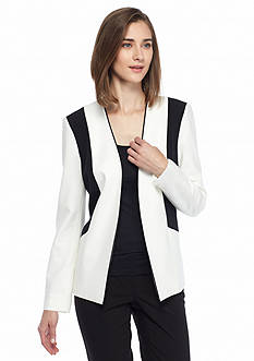 Nine West Colorblock Flyaway Jacket