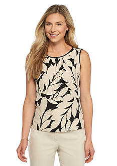 Nine West Amber Pleated Neckline Blouse