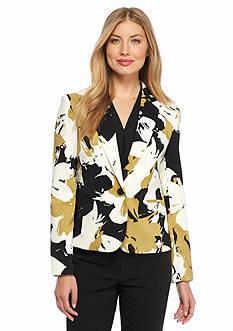 Nine West Print Twill Jacket
