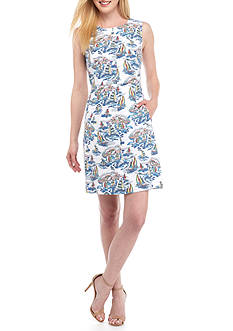 Nine West Printed Novelty Sheath Dress