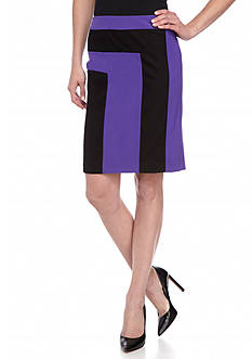 Nine West Color Block Slim Skirt
