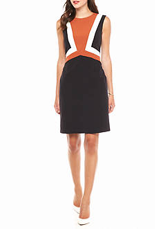 Nine West Colorblock Sheath Dress