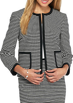 Nine West Knit Jacquard Jacket
