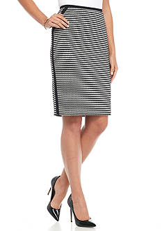 Nine West Knit Jacquard Skirt
