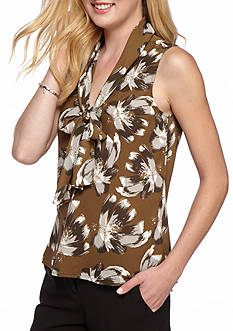 Nine West Print Tie Neck Cami