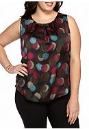 Nine West Plus Size Print Blouse