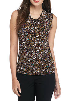 Nine West Print Sleeveless Top