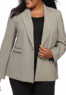 Nine West Plus Size Single Button Jacket