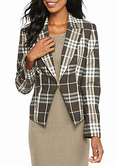 Nine West Plaid Jacket