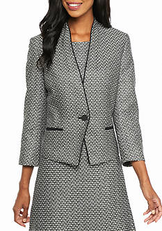 Nine West Tweed One Button Jacket
