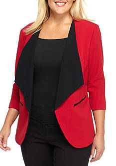 Nine West Plus SizeTaylor Kiss Front Jacket