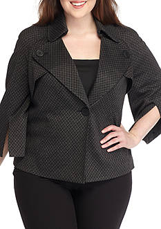 Nine West Plus Size Cape Jacket