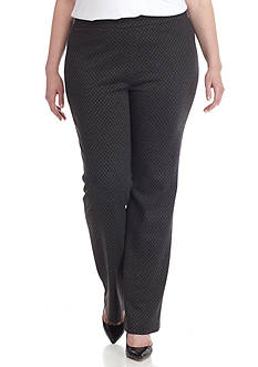 Nine West Plus Size Knit Pull On Pant