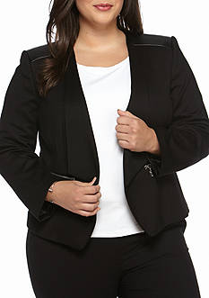 Nine West Plus Size Ponte Knit Jacket
