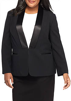 Nine West Plus Size Tuxedo Jacket