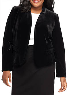 Nine West Plus Size Velvet Jacket