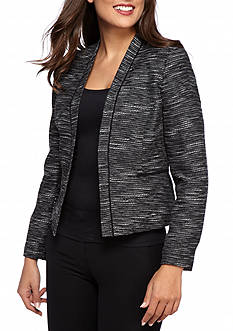 Nine West Tweed Kiss Front Jacket