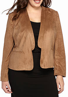 Nine West Plus Size Faux Suede Jacket