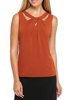 Nine West Crossover Jersey Knit Top