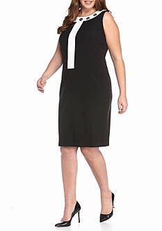 Nine West Plus Size Woven Sleeveless Dress