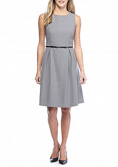 Nine West Crepe Fit and Flare Dress
